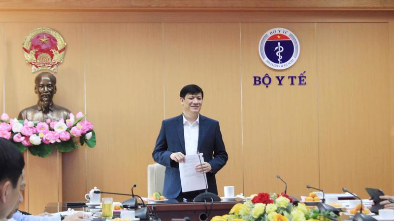 Bộ trưởng Bộ Y tế Nguyễn Thanh Long tại lễ công bố Quyết định thành lập Hội đồng tư vấn, cấp phép lưu hành trang thiết bị y tế.
