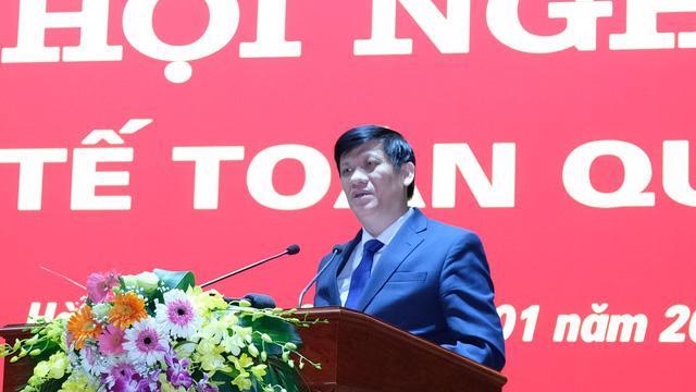 Bộ trưởng Bộ Y tế Nguyễn Thanh Long phát biểu tại Hội nghị Y tế toàn quốc ngày 6/1. Ảnh - Trần Minh.