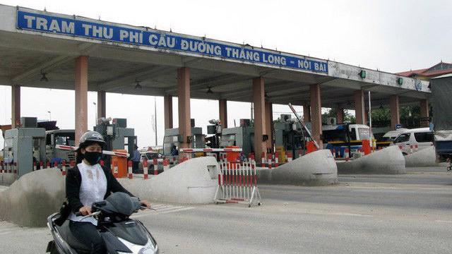 Trạm thu phí Bắc Thăng Long - Nội Bài.