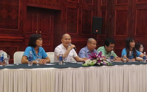 Lãnh đạo Bkav gặp mặt báo chí chiều 24/8 tại Hà Nội.