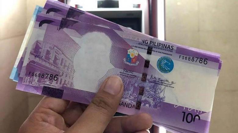 Đồng 100 Peso bị thiếu mặt cựu Tổng thống Manuel Roxas và sai tên nước - Ảnh: Facebook.