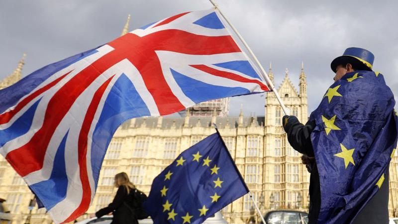 """Theo Thủ tướng Anh Theresa May, việc thông qua dự luật Brexit là """"thời khắc lịch sử cho đất nước và là một bước quan trọng trong việc thực hiện ý nguyện của người Anh"""". Ảnh: AFP."""