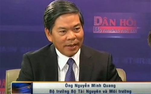 """Trong chương trình """"Dân hỏi – Bộ trưởng trả lời"""" tối 3/3, Bộ trưởng Bộ Tài nguyên và Môi trường Nguyễn Minh Quang cho biết """"căn bản hoàn thành"""" việc cấp giấy chứng nhận quyền sử dụng đất, tức là trên 80% diện tích đất sẽ được cấp giấy chứng nhận - Nguồn: VTV, VGP.<br>"""