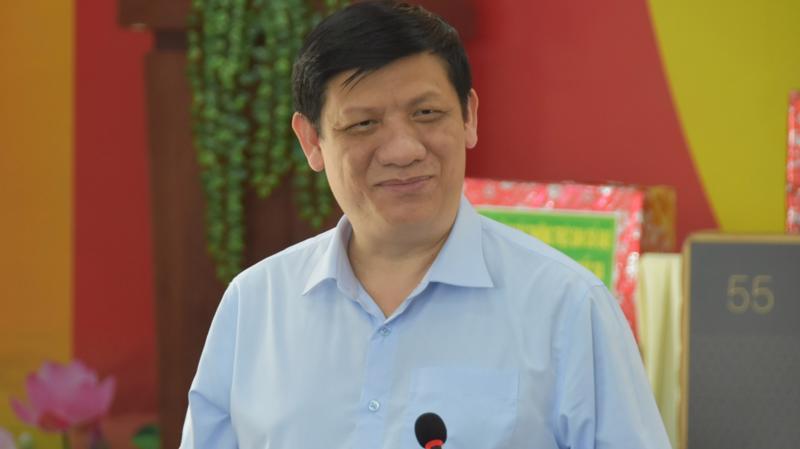 Bộ trưởng Bộ Y tế Nguyễn Thanh Long trong buổi làm việc với tỉnh Tây Ninh ngày 25/12.