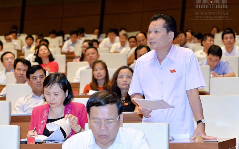 Đại biểu Bùi Sỹ Lợi phát biểu tại phiên thảo luận.