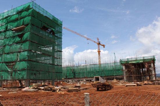 Thi công nhà máy alumina tại Lâm Đồng - Ảnh: Chinh phu.vn.