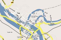 Trên bản đồ trực tuyến Google Maps, một nửa thành phố Lào Cai của Việt Nam lại nằm bên kia biên giới Trung Quốc - Ảnh chụp màn hình.