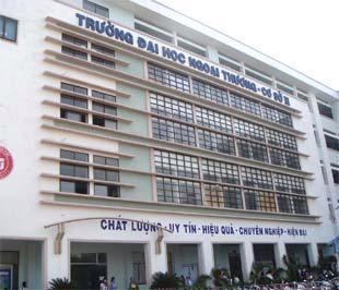 Một góc trường Đại học Ngoại Thương (Hà Nội).