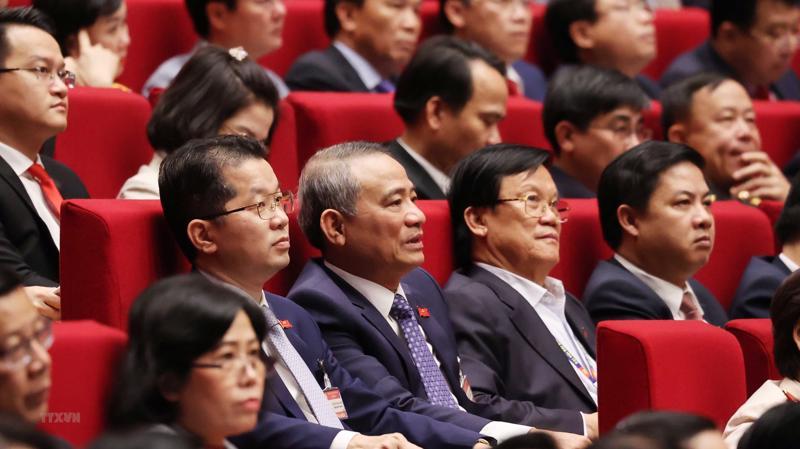 Các đại biểu dự phiên họp chiều ngày 27/1.