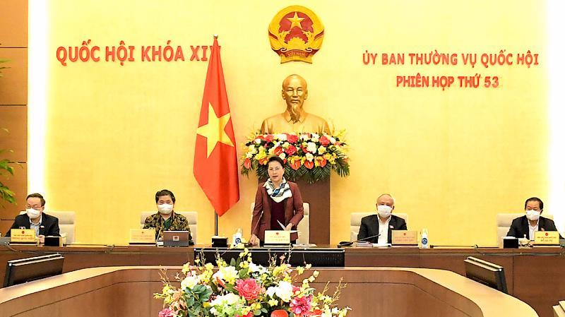 Phiên họp thứ 53 của Ủy ban Thường vụ Quốc hội - Ảnh: Quochoi.vn
