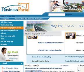 Giao diện của Cổng thông tin doanh nghiệp và đầu tư.