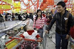 Chỉ số giá tiêu dùng (CPI) của Việt Nam năm 2009 đã dừng ở mức dưới 7% - Ảnh: AP.