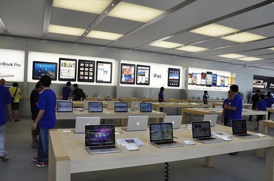 Gian hàng Apple tại Thượng Hải, Trung Quốc.