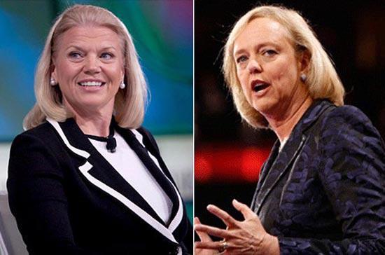 """Virginia """"Ginni"""" Rometty (trái) và Meg Whitman sẽ thay đổi số phận phụ nữ trong thế giới công nghệ?"""