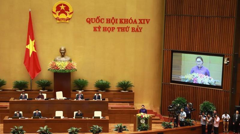 Kỳ họp thứ 7 của Quốc hội khoá 14 đã khai mạc sáng 20/5 tại Hà Nội - Ảnh: Quang Phúc.