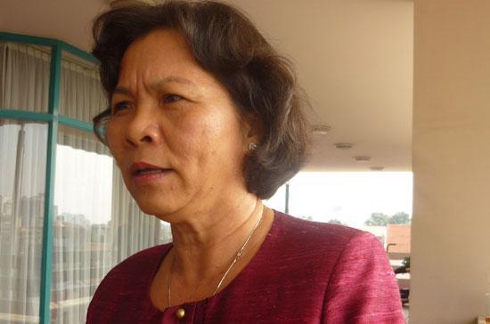 Chủ nhiệm Ủy ban Tư pháp Lê Thị Thu Ba.