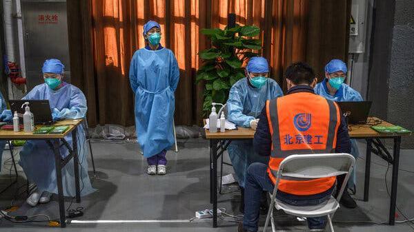 Hình ảnh được chụp tại một trung tâm tiêm chủng tại Bắc Kinh vào tháng trước - Ảnh: Getty Images