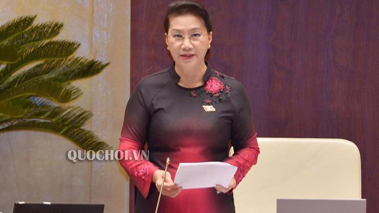 Chủ tịch Quốc hội Nguyễn Thị Kim Ngân điều hành phiên chất vấn.