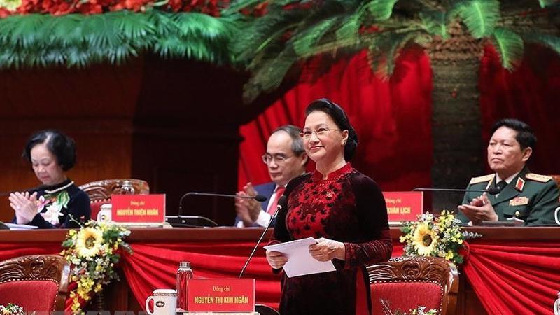 Chủ tịch Quốc hội Nguyễn Thị Kim Ngân cảm ơn tình cảm hữu nghị, sự hợp tác, ủng hộ của các tổ chức và bạn bè quốc tế đã dành cho Đảng Cộng sản Việt Nam và nhân dân Việt Nam