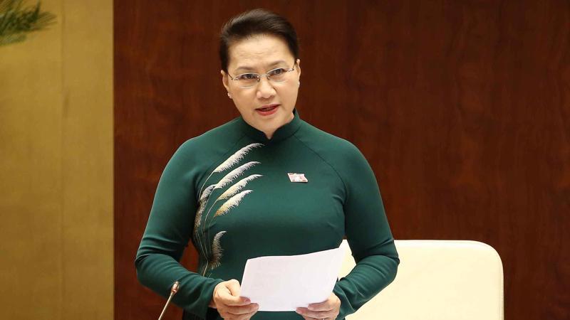 Chủ tịch Quốc hội Nguyễn Thị Kim Ngân trực tiếp điều hành các phiên chất vấn.