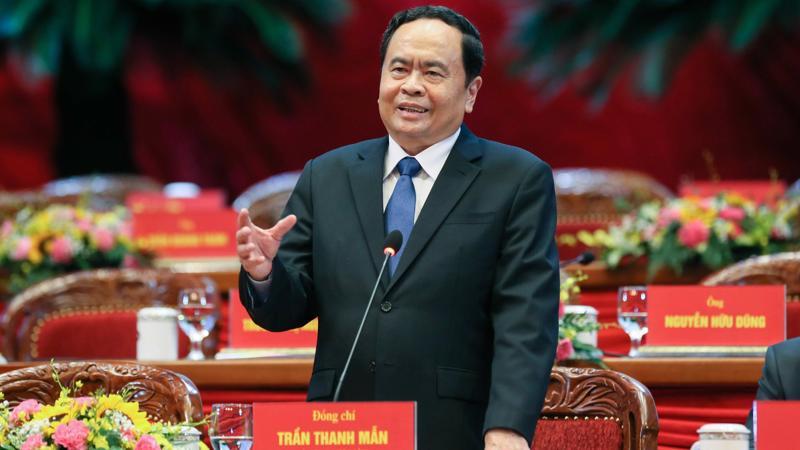 Ông Trần Thanh Mẫn tái giữ chức vụ Chủ tịch Ủy ban Trung ương Mặt trận Tổ quốc Việt Nam. Ảnh -Quang Vinh.