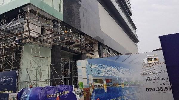 """Dự án """"Trung tâm thương mại, văn phòng, căn hộ cao cấp để bán và cho thuê Discovery Complex"""" tiềm ẩn nguy cơ cháy nổ."""