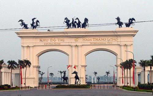 Phía trước cổng khu đô thị Ciputra (Hà Nội).<br>