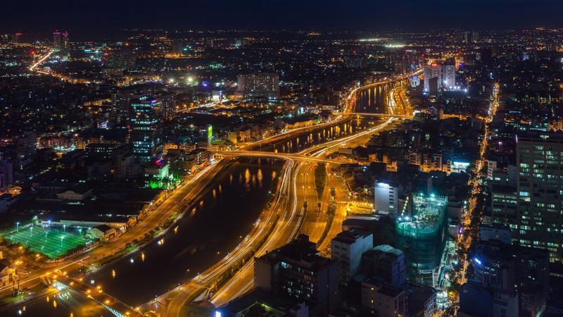 Hình ảnh Tp.HCM nhìn từ trên cao - Ảnh: Getty Images.
