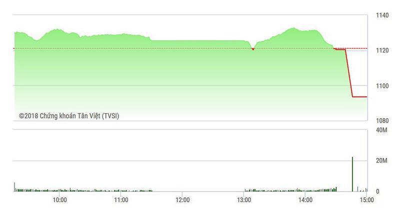 VN-Index chủ đạo sập nặng nhất ở đợt đóng cửa.