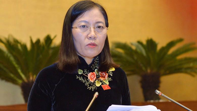 Chủ nhiệm Uỷ ban Tư pháp Lê Thị Nga hồi âm Tổng kiểm toán.