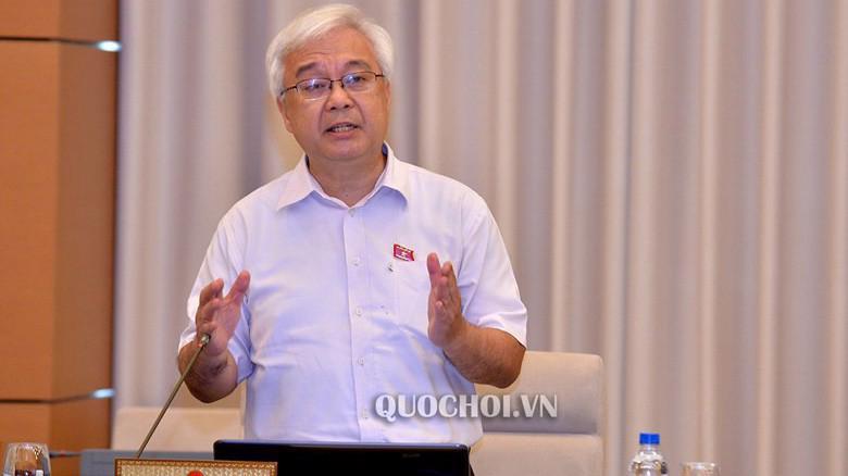 Chủ nhiệm Uỷ ban Văn hoá giáo dục thanh thiếu niên và nhi đồng của Quốc hội, ông Phan Thanh Bình phát biểu tại phiên họp
