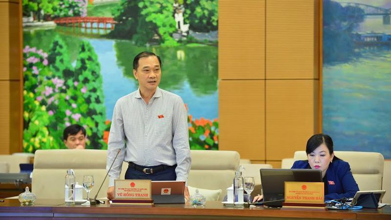Chủ nhiệm Uỷ ban Kinh tế Vũ Hồng Thanh phát biểu tại phiên thảo luận - Ảnh: QP