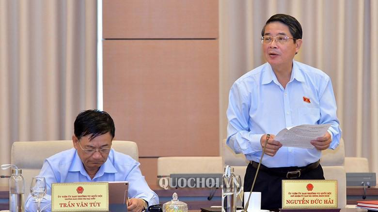 Chủ nhiệm Uỷ ban Tài chính - Ngân sách Nguyễn Đức Hải.