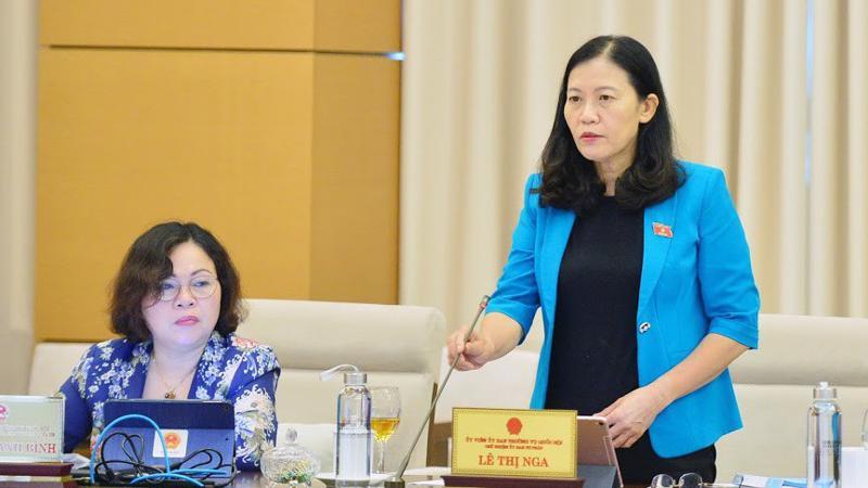 Chủ nhiệm Uỷ ban Tư pháp Lê Thị Nga - Ảnh: QP