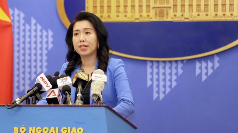 Người phát ngôn Bộ Ngoại giao Việt Nam, bà Lê Thị Thu Hằng