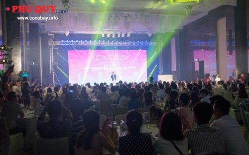 Buổi giới thiệu dự án Cocobay của Phú Quý Land đã thu hút sự tham gia của hơn 500 khách hàng.<br>