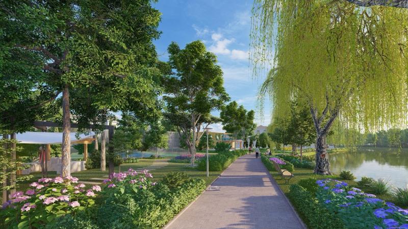 The Grand Villas đẹp tựa như những ngôi làng ở Hà Lan được phủ bởi màu xanh.