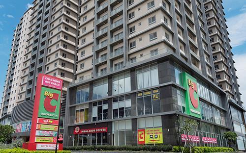 Dự án có 8 Block gồm 756 căn hộ với 3 tầng hầm, 3 tầng Trung tâm thương mại và 19 tầng căn hộ cao cấp.