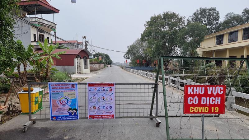 Khu vực cách ly tại Trung tâm y tế huyện Lương Tài, tỉnh Bắc Ninh. Ảnh - Tuấn Dũng.