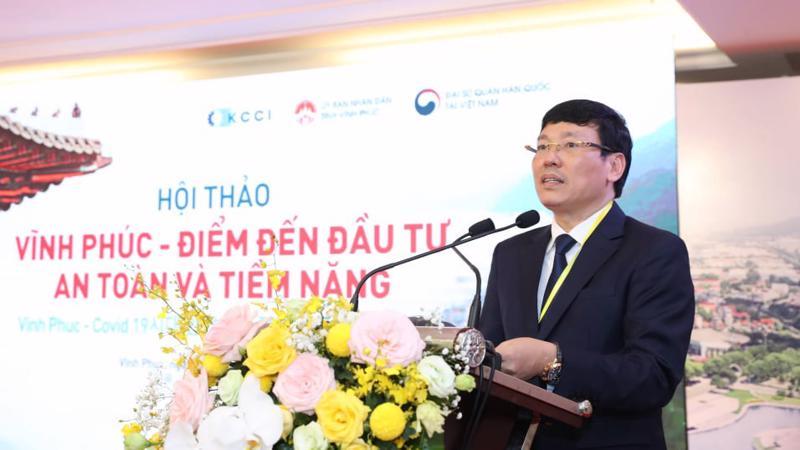 Ông Lê Duy Thành, Chủ tịch Ủy ban nhân dân tỉnh Vĩnh Phúc