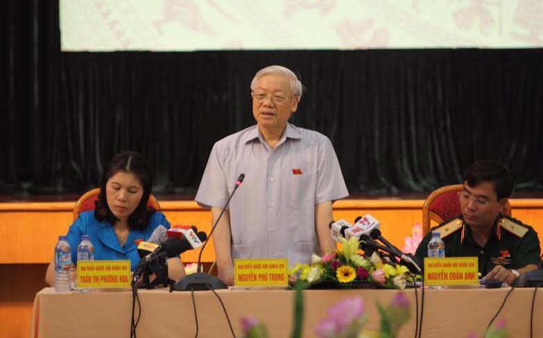 Tổng bí thư Nguyễn Phú Trọng hồi âm ý kiến cử tri - Ảnh: XH.