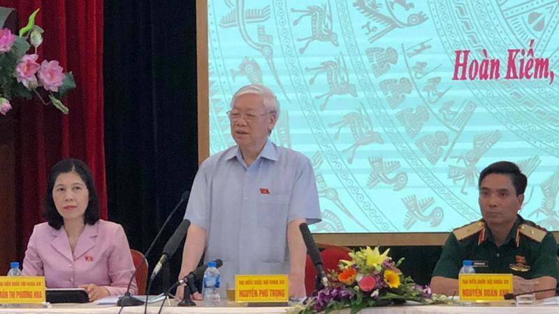 Sáng 8/10 Tổng bí thư Nguyễn Phú Trọng tiếp xúc cử tri các quận Ba Đình, Hoàn Kiếm (Hà Nội).