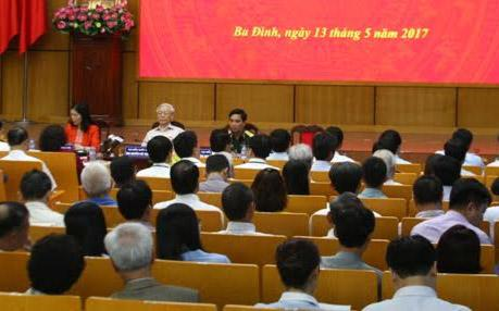 Một buổi tiếp xúc cử tri của đại biểu Quốc hội khoá 14.