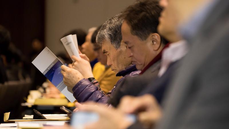 Cuộc họp đại hội đồng cổ đông thường niên diễn ra ngày 23/3 - Ảnh: Bloomberg.