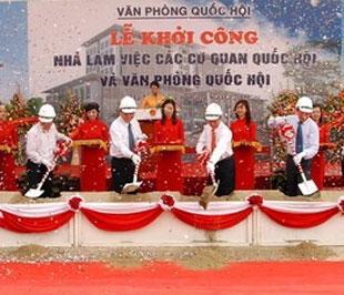 Lễ khởi công công trình Nhà làm việc các cơ quan Quốc hội và Văn phòng Quốc hội - Ảnh: Doãn Tấn.