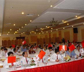 Quang cảnh Đại hội đồng cổ đông thường niên của Bảo Minh hôm 12/4 vừa qua.