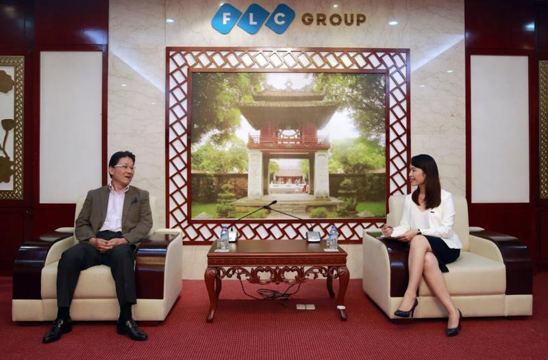 Nguyên Đại sứ Nhật Bản tại Việt Nam Norio Hattori trong một buổi làm việc với lãnh đạo Tập đoàn FLC.