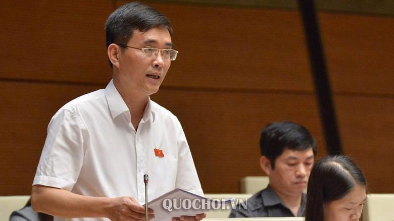 Đại biểu Hoàng Quang Hàm tại phiên thảo luận của Quốc hội.