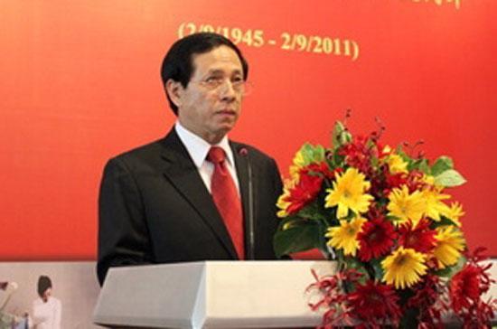 Đại sứ Nguyễn Văn Thơ phát biểu tại buổi chiêu đãi 66 năm Quốc khánh nước Cộng hòa Xã hội Chủ nghĩa Việt Nam - Ảnh: CRI.