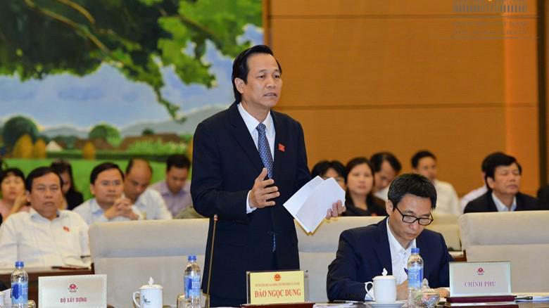Bộ trưởng Bộ Lao động - Thương binh và xã hội Đào Ngọc Dung trong một lần chất vấn tại Uỷ ban Thường vụ Quốc hội
